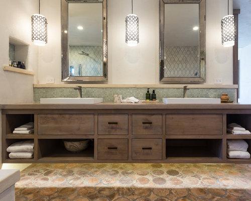 maritime badezimmer mit terrakottafliesen ideen f r die. Black Bedroom Furniture Sets. Home Design Ideas
