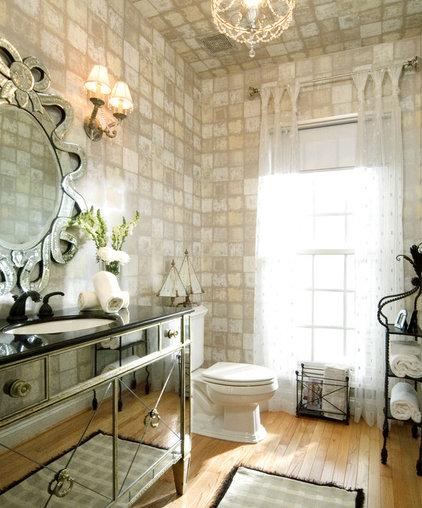 Eclectic Bathroom by DECORATING DEN INT. SHELLEY RODNER C.I.D.