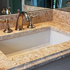 tropical bathroom countertops by Marble of the World