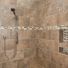 Transitional Bathroom by plantation building corp