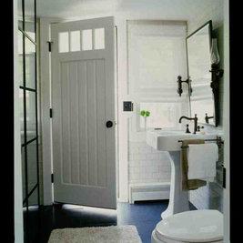 Beach Style Bathroom by SchappacherWhite Architecture D.P.C.