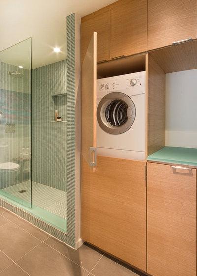 10 ways to create more bathroom storage for Bathroom designs with washing machine