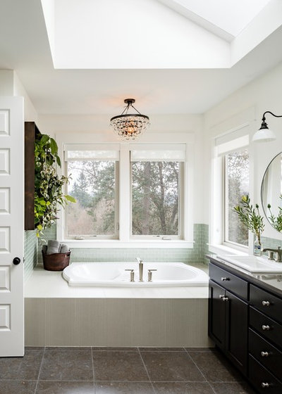 Transitional Bathroom by Patrick Schmitt, designer Inc.