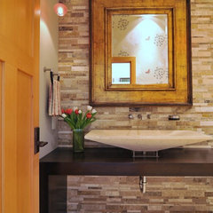 eclectic bathroom by Signature Design & Cabinetry LLC