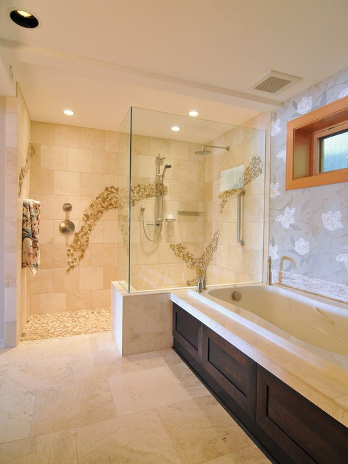 Doorless walk in shower the best inspiration for Bathroom tile ideas menards