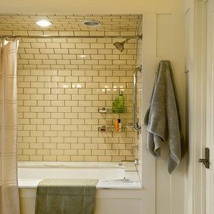cream subway tile houzz rh houzz com Tan Tile Bathroom Floor beige subway tile bathroom ideas