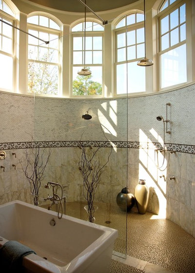 British Colonial Bathroom by VanBrouck & Associates, Inc.