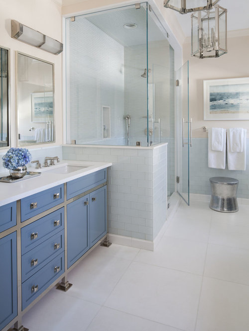 Bathroom Knee Wall tile knee wall | houzz
