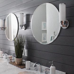Bathroom - mid-sized shabby-chic style bathroom idea in Chicago
