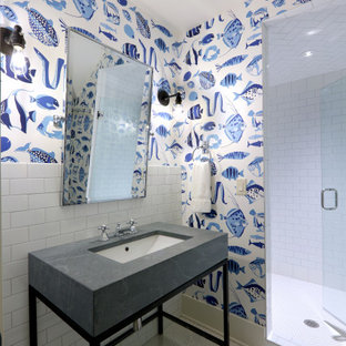 75 Beautiful Wallpaper Bathroom Pictures Ideas January 2021 Houzz