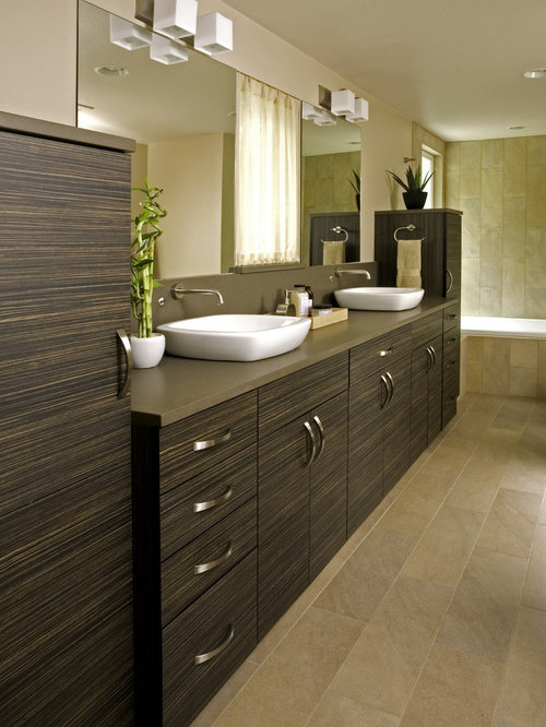 inspiration for a large modern master bathroom remodel in seattle with