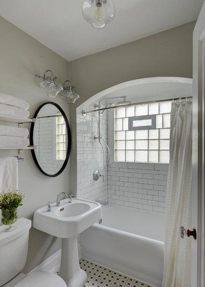 Transitional Bathroom by Story Hill Renovations LLC