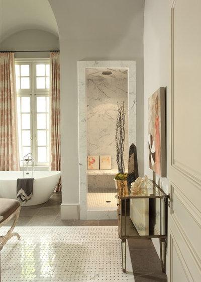 Stunning Traditional Bathroom by J Hirsch Interior Design LLC