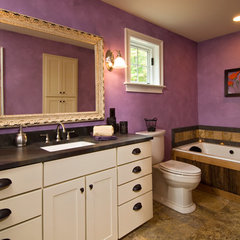 eclectic bathroom by Witt Construction