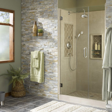 Shower Alcove with Natural Accents