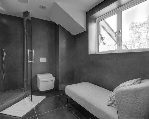 Shower And Bathroom - Beton Cire Finish