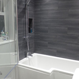 shower bath in small bathroom refurbishment