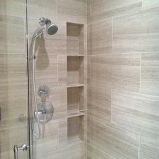 Contemporary Bathroom Shower close up
