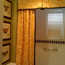 Traditional Bathroom Shower Curtain and Valance