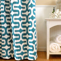 Shower Curtain HQ - We are so excited to add Elisabeth Michael to our product lines at Shower Curtain HQ! These graphic print shower curtains are handmade in the USA (Indiana to be exact) and will add a bold statement to your bathroom. Elisabeth started her business so she could stay home with her kids and offers a high quality product you will love.