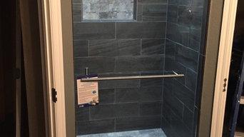 """Shower Door installation( W 34.56"""") X (H 74.5"""")"""