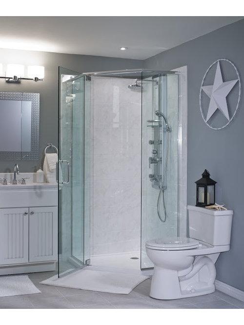 salle de bain moderne avec un placard porte persienne photos et id es d co de salles de bain. Black Bedroom Furniture Sets. Home Design Ideas
