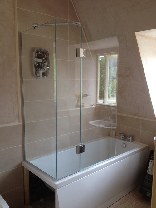 do you make over bath shower doors for the tap end?