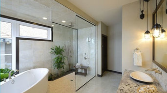 Shower glass install...Perry Signature Lottery House