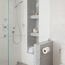 Contemporary Bathroom by Laura Mannes Design, LLC