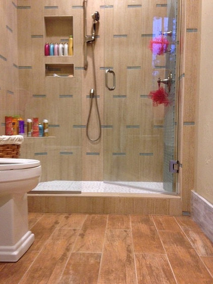 Contemporary Bathroom by F & L Tile & Hardwood