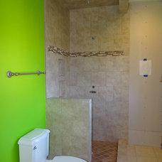 Traditional Bathroom by Custom Tile-Tile Installation