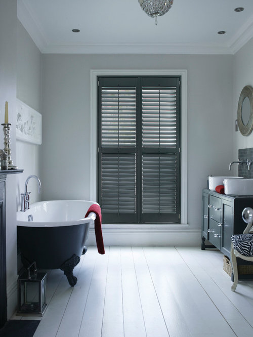 Grey Plantation Shutters Houzz