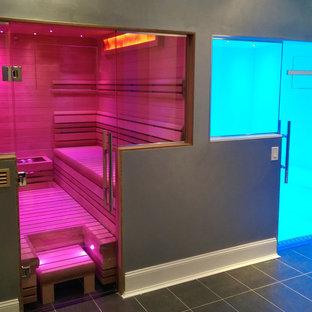 Imagen de sauna minimalista grande