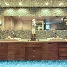 Beach Style Bathroom by Lovelace Interiors