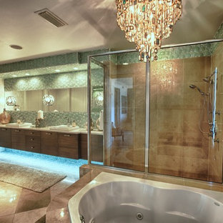 Example of a beach style bathroom design in Miami