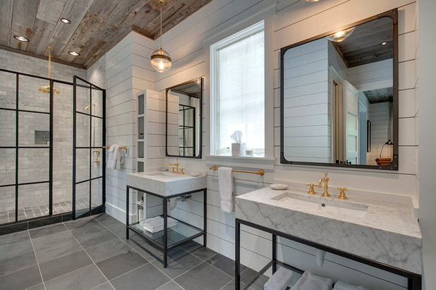 Farmhouse Bathroom by Harris Custom Builders, LLC