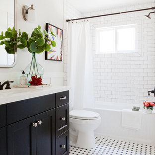75 Beautiful Black And White Tile Bathroom Pictures Ideas Houzz