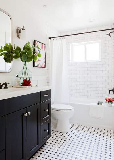 Transitional Bathroom by Kate Lester Interiors