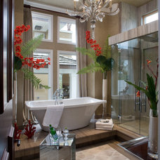 Tropical Bathroom by Silver Sea Homes