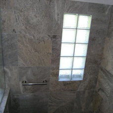Modern Bathroom by Travertine Warehouse