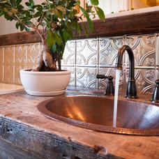 Farmhouse Bathroom by American Tin Ceiling Company