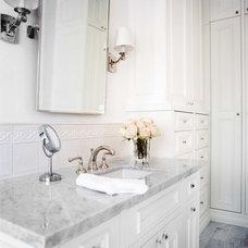 Traditional Bathroom by Jamie Herzlinger