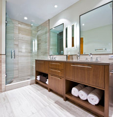 contemporary bathroom by Sticks and Stones Design Group Inc