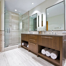 contemporary bathroom by Sticks and Stones Design Group inc.