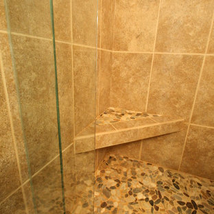 small bathroom stand up shower | houzz
