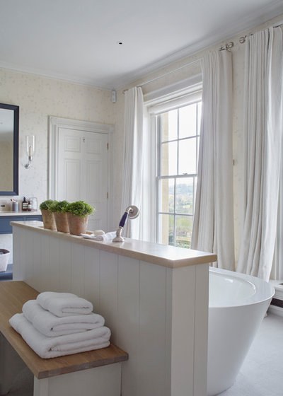 Traditional Bathroom by Sims Hilditch