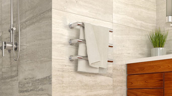 Single ended electric heated towel rails