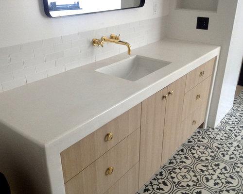 Popular Form Mosaic Floor Bathroom Scandinavian With Cement Tile Rectangular