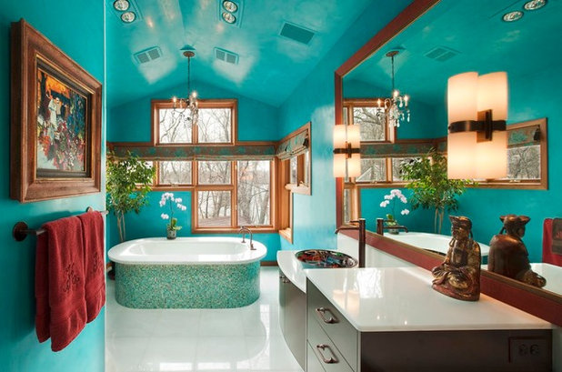 Ideal Contemporary Bathroom by Susan E Brown Interior Design