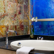 Eclectic Bathroom by KuDa Photography